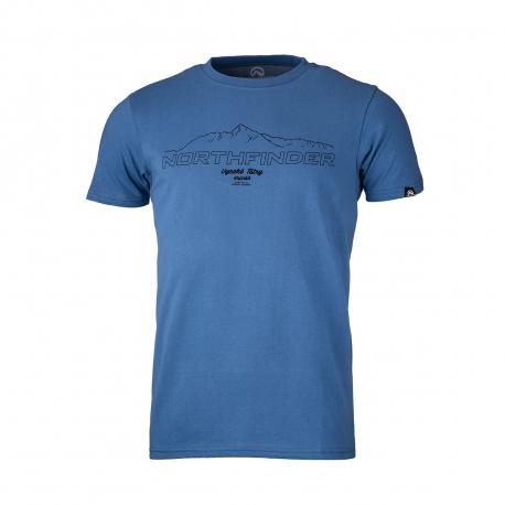 Pánske turistické tričko s krátkym rukávom NORTHFINDER-ANTIN-blue