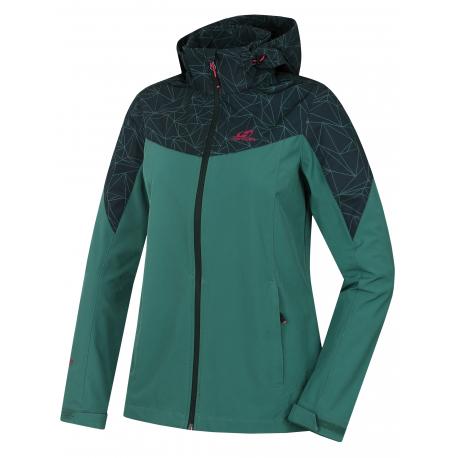 Dámska turistická softshellová bunda HANNAH-FRIDA LITE-fir/green gables