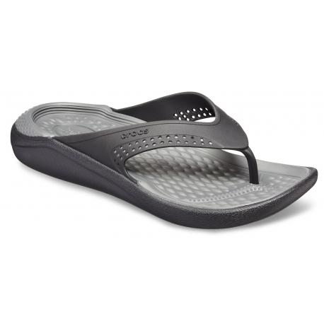 Obuv k bazénu (plážová obuv) CROCS-LiteRide Flip black/slate grey