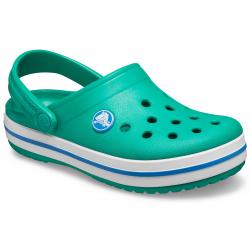 Dětské kroksy (rekreační obuv) CROCS-Crocband Clog K deep green / prep blue