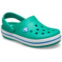 Detské kroksy (rekreačná obuv) CROCS-Crocband Clog K deep green/prep blue -