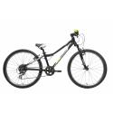 Juniorský bicykel AMULET-TEAM AIR 24 Černý -