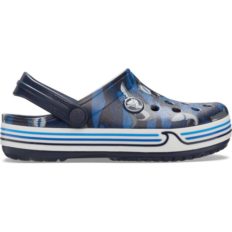 Detské kroksy (rekreačná obuv) CROCS-Crocband Shark Clog PS navy -