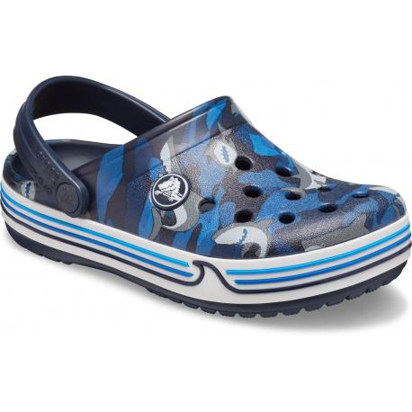 Dětské kroksy (rekreační obuv) CROCS-Crocband Shark Clog PS navy
