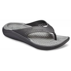 Obuv k bazénu (plážová obuv) CROCS-LiteRide Flip black/slate grey (EX)