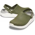 Kroksy (rekreačná obuv) CROCS-LiteRide Clog army green/white (EX) -