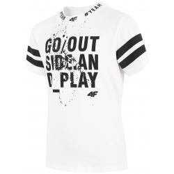 Chlapčenské tričko s krátkym rukávom 4F-BOYS T-SHIRT-HJL20-JTSM012-10S
