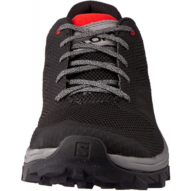 Pánska turistická obuv nízka SALOMON-OUTline black/quiet shad/high risk (EX) -