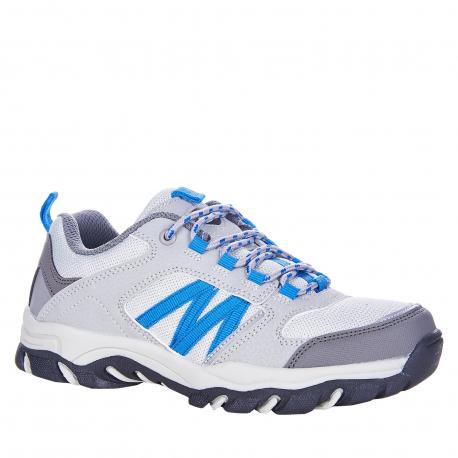 Detská turistická obuv nízka EXItrek-Nelson grey/blue