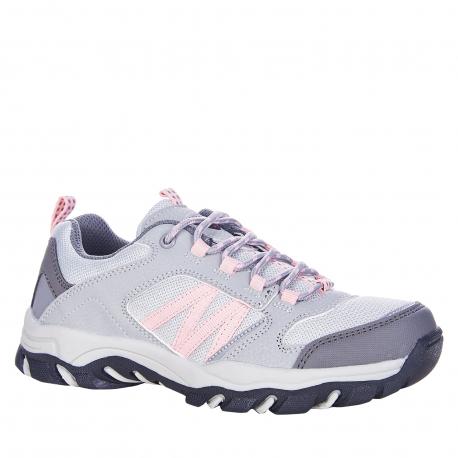 Detská turistická obuv nízka EXItrek-Nelson grey/pink