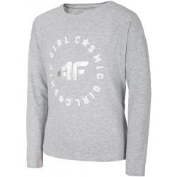 Dívčí triko s dlouhým rukávem 4F-GIRLS LONGSLEEVE-HJL20-JTSDL001-25S