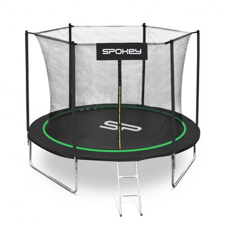 Trampolína SPOKEY-JUMPER čierno-zelená, 244 cm