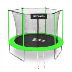 Trampolína SPOKEY-JUMPER II černo-zelená, 305 cm