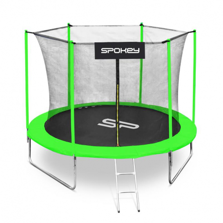Trampolína SPOKEY-JUMPER II čierno-zelená, 305 cm