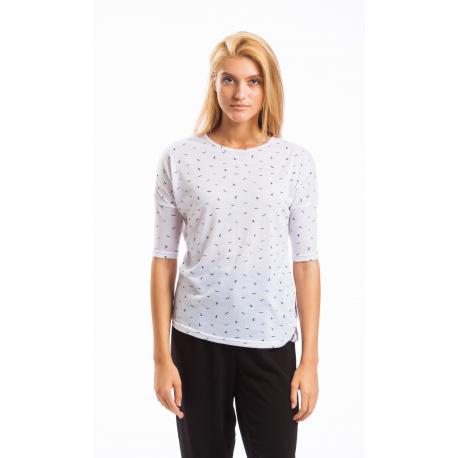 Dámske tričko s krátkym rukávom FUNDANGO-Jambu short-105-white birds