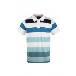Pánské polo tričko s krátkým rukávem FUNDANGO-Incognito stripe-110-dirty white