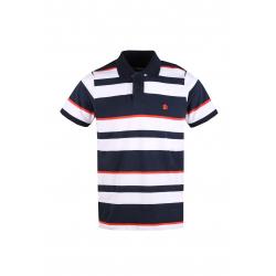 Pánské polo tričko s krátkým rukávem FUNDANGO-Helsem-485-eclipse blue