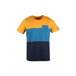 Pánské triko s krátkým rukávem FUNDANGO-Jaggy Pocket-640-brick
