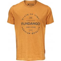Pánske tričko s krátkym rukávom FUNDANGO-Basic T Logo 2-634-mustard
