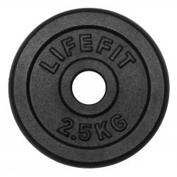 Závažie LIFEFIT-Kotúč 2,5kg, kovový, pre 30mm tyč