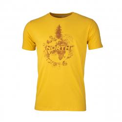 Pánske turistické tričko s krátkym rukávom NORTHFINDER-TERON-yellow
