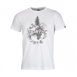 Pánské turistické tričko s krátkým rukávem NORTHFINDER-TERON-white