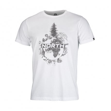 Pánske turistické tričko s krátkym rukávom NORTHFINDER-TERON-white