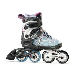 Detské kolieskové korčule FILA SKATES-WIZY G BLACK/LGHTBLUE/MAGENTA