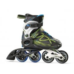 Detské kolieskové korčule FILA SKATES-WIZY BLACK/LIME/LGHTBLUE