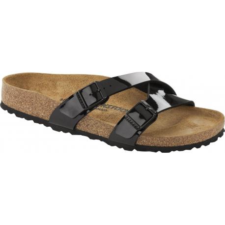Dámske dreváky (módna obuv) BIRKENSTOCK-Yao Balance BF Patent Black