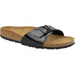 Dámske dreváky (módna obuv) BIRKENSTOCK-Madrid BF Patent Black