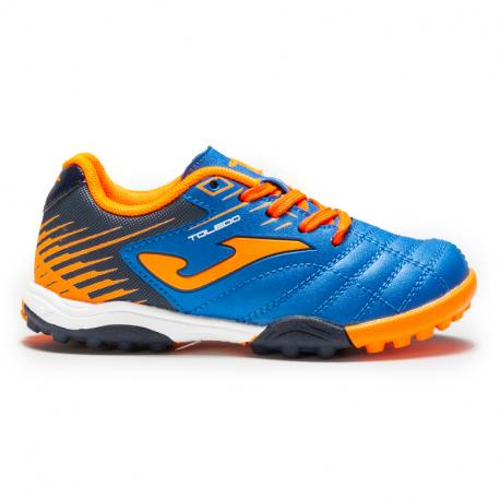 Detské futbalové kopačky turfy JOMA-Toledo 2004 k TF blue/orange