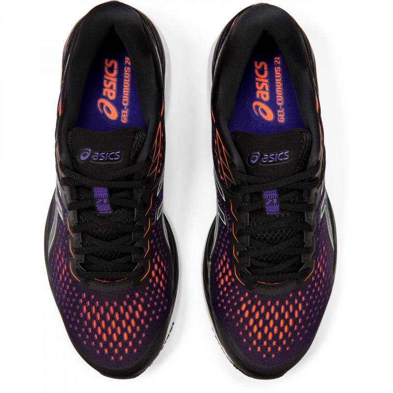 Pánska bežecká obuv ASICS-Gel Cumulus 21 black/flash coral -