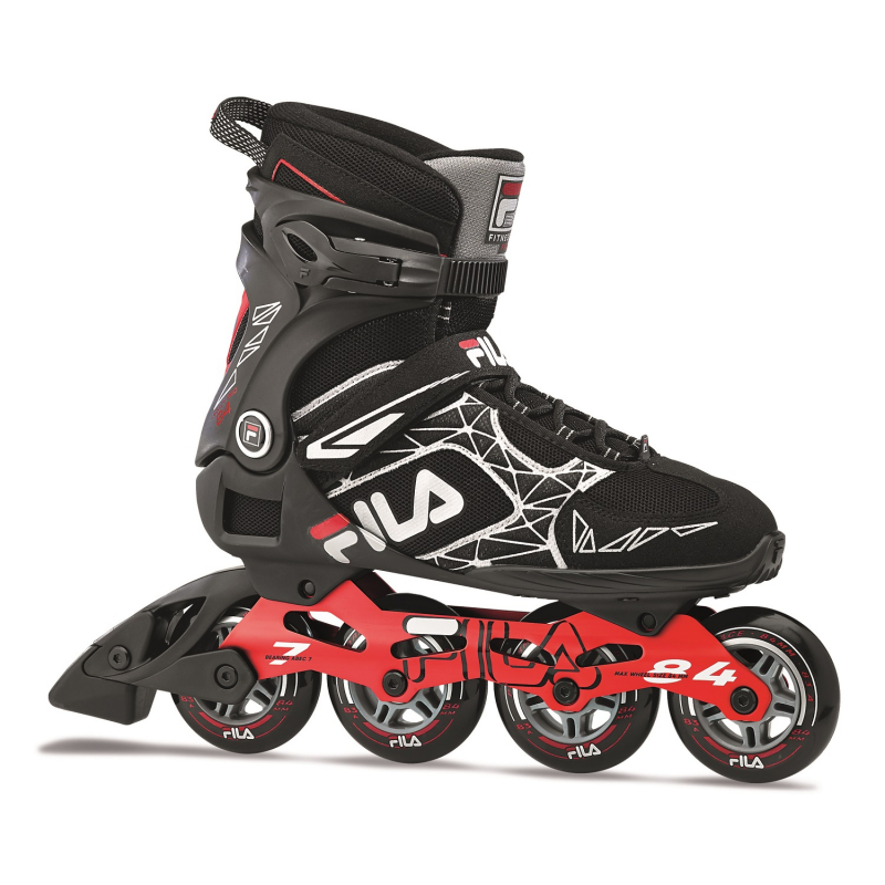 Fitness kolieskové korčule FILA SKATES-LEGACY PRO 84 BLACK/RED -