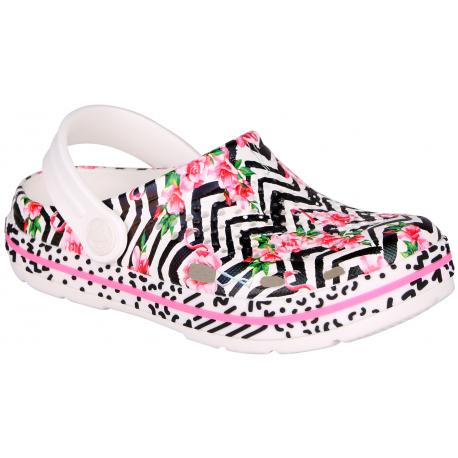 Dětské kroksy (rekreační obuv) COQUI-Lindo white flamingo