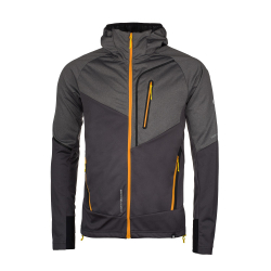 Pánska turistická softshellová bunda NORTHFINDER-VONNSY-blackorange