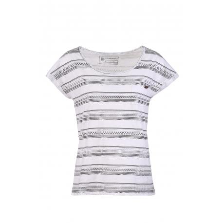Dámske tričko s krátkym rukávom FUNDANGO-Melba-102-white stripe