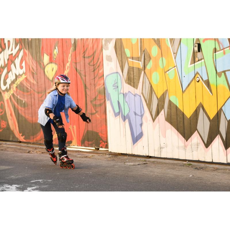 Detské kolieskové korčule FILA SKATES-J-ONE BLACK/RED - Detské in-line korčule značky Fila.