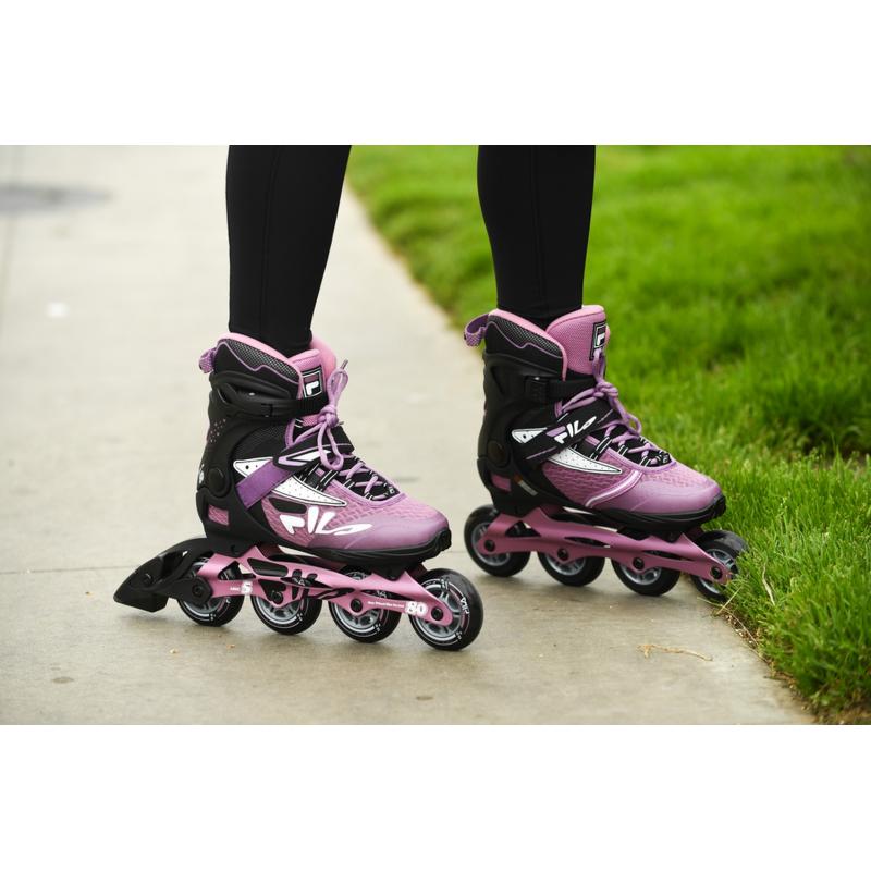 Dámske kolieskové korčule FILA SKATES-LEGACY PRO 80 LADY BLCK/VIOLET -