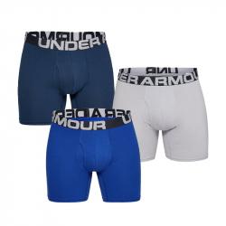 Pánské boxerky POD ARMOR-Charged Cotton 6in 3 Pack-BLU
