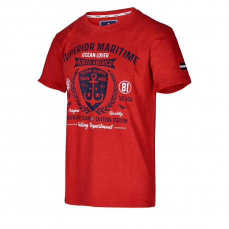 Pánske tričko s krátkym rukávom AUTHORITY-SAILONERY red