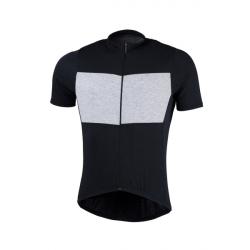 Pánsky cyklistický dres s krátkym rukávom NORTHFINDER-JUDAH Black