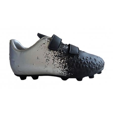 Detské futbalové kopačky outdoorové LANCAST-Warriors K FG black/silver