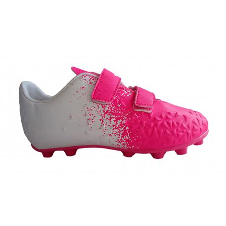 Detské futbalové kopačky outdoorové LANCAST-Warriors K FG pink/white