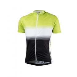 Pánsky cyklistický dres s krátkym rukávom NORTHFINDER-VALENTINO blackgreen