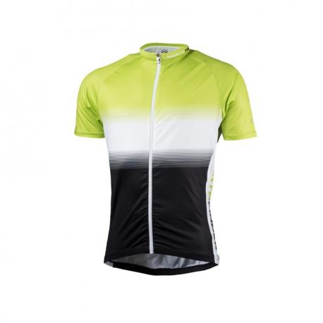 Pánský cyklistický dres s krátkým rukávem NORTHFINDER-VALENTINO blackgreen
