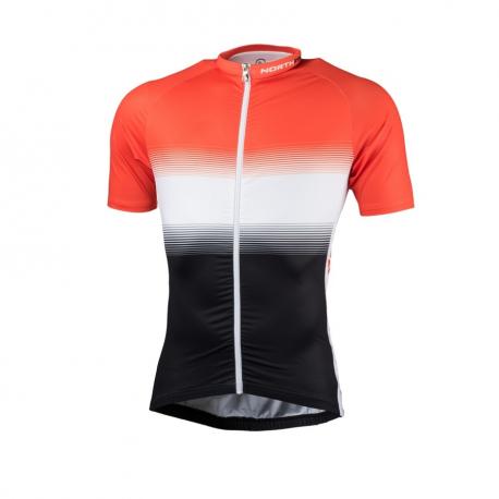 Pánsky cyklistický dres s krátkym rukávom NORTHFINDER-VALENTINO blackred