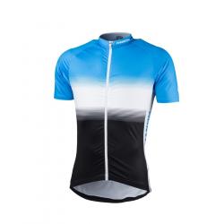 Pánský cyklistický dres s krátkým rukávem NORTHFINDER-VALENTINO blackblue