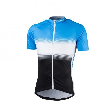 Pánsky cyklistický dres s krátkym rukávom NORTHFINDER-VALENTINO blackblue