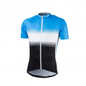 Pánský cyklistický dres s krátkým rukávem NORTHFINDER-VALENTINO blackblue -